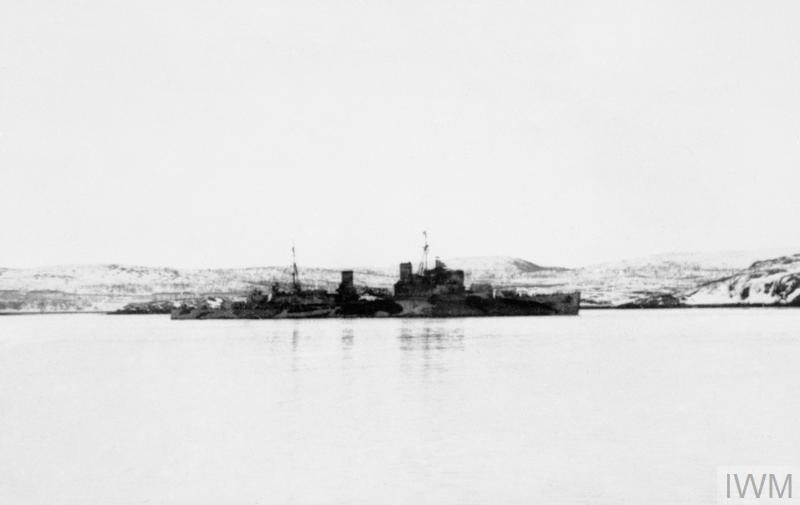 HMS TRINIDAD AT MURMANSK, 1942
