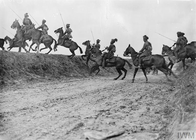 9th Hodson's Horse (Bengal Lancers), Indian Army, near Vraignes, April 1917.