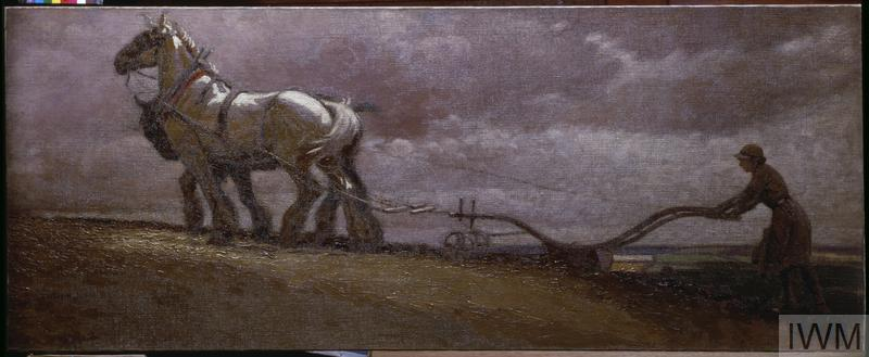 A Land Girl Ploughing