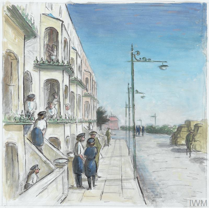 WRNS and Marine Barracks in a South Coast Town