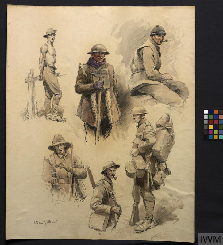 Six Sketches of Soldiers in Various Kit