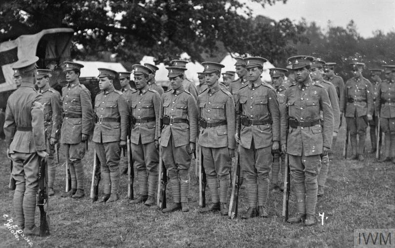 Cambridge University Officer Training Corps on parade.