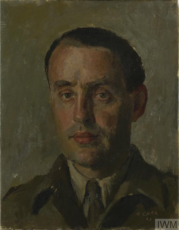 image: a head and shoulder portrait of Howard Marshall dressed in British Army uniform.