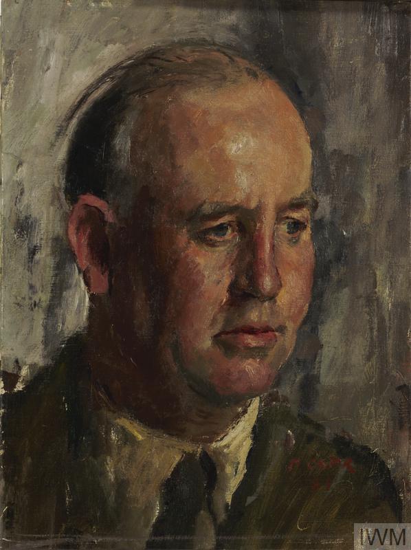 a head and shoulder portrait of Edward Ardizzone in uniform.