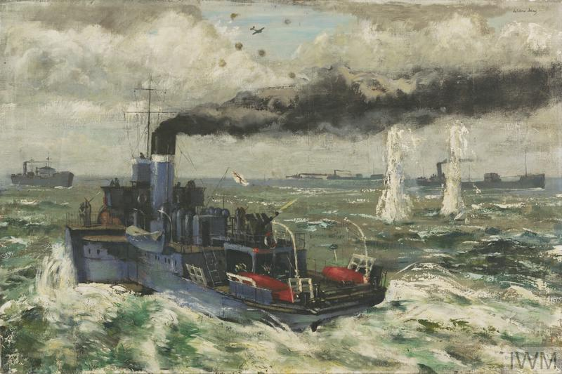 HMS Lorna Doone during an Attack on an East Coast Convoy