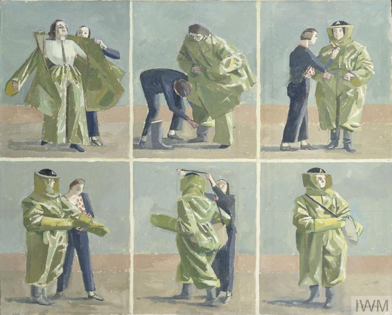 Putting on Anti-gas Protective Clothing