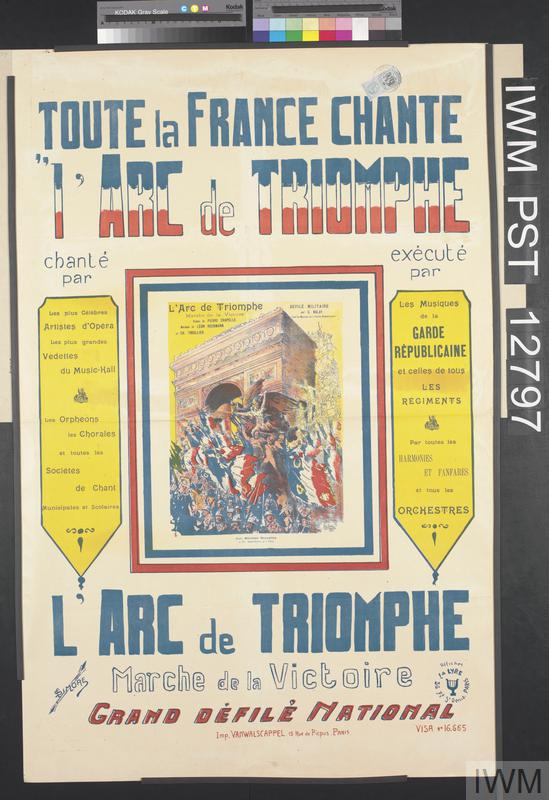 Toute la France Chante l'Arc de Triomphe [The Whole of France is Singing 'L'Arc de Triomphe']