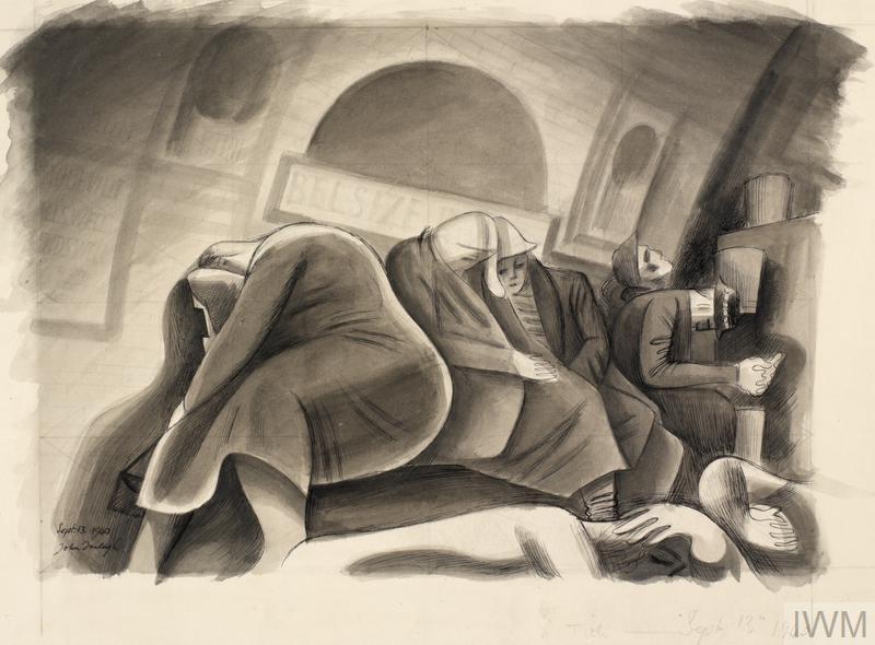 September 13th 1940: Shelterers in Belsize Park Tube Station