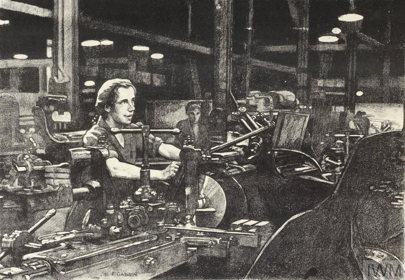 Work on a Weir Pump Women's Work in the War (Other than the Services) - Six lithographs by Ethel Gabain