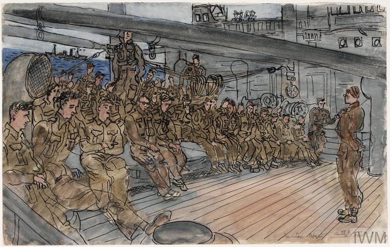 Part of a Draft of Sappers Listening to a Lecture 'Convoy' series, 1941 - 1942
