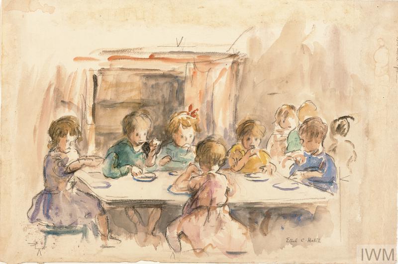 London Evacuees at Oxford, 1942