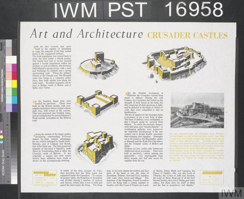 Art and Architecture - Crusader Castles | Imperial War Museums