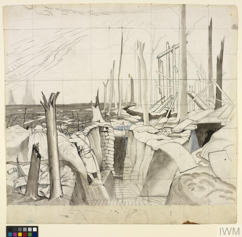 Study for Oppy Wood, 1917 (IWM ART 2243)