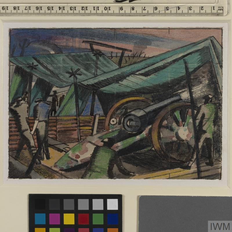 Study for 'A Howitzer Firing' (IWM ART 1152)