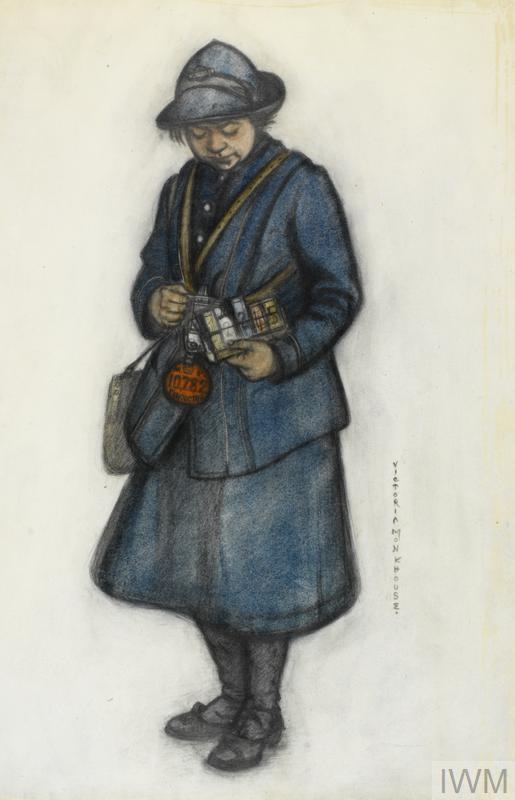 A Bus Conductress, 1919, by Victoria Monkhouse.