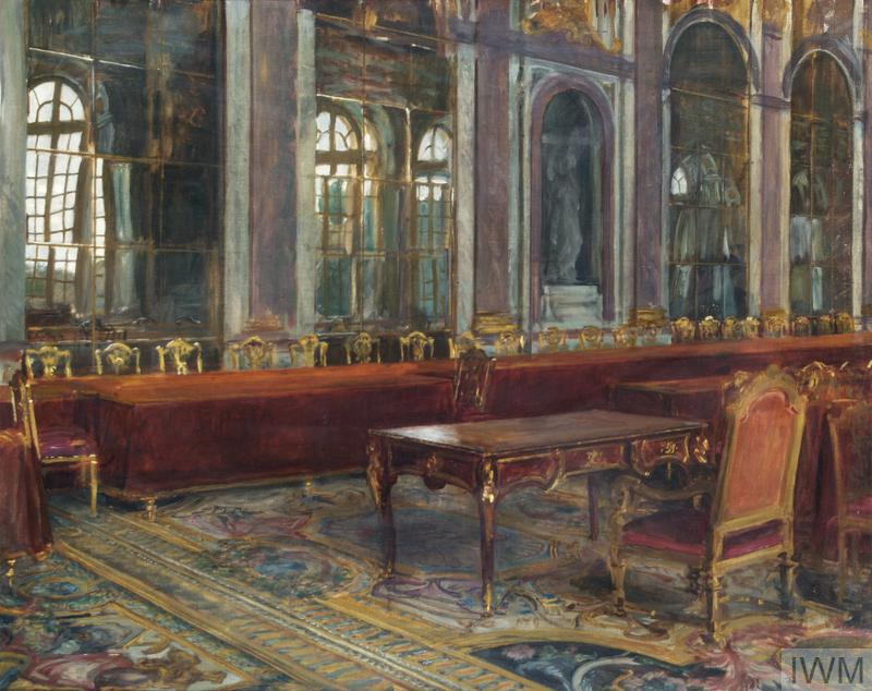 Sketch of the Table in the Hall Of Mirrors, at which the Treaty of Versailles was Signed