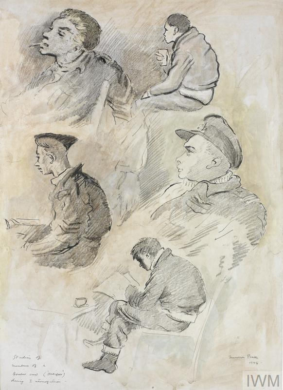 Studies of a Halifax Bomber Crew during interrogation