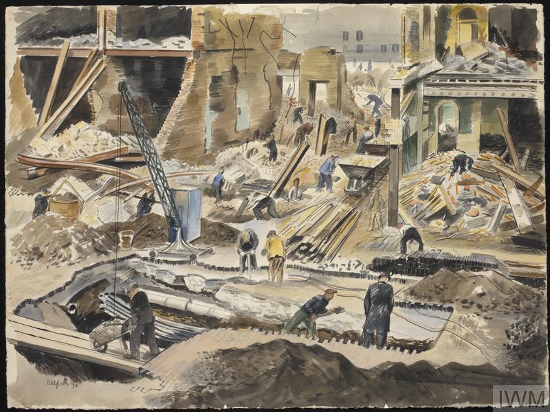 Demolition Workers, Oxford Street, London W1