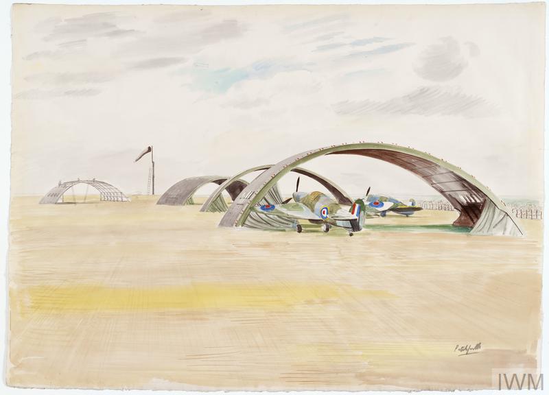 Hangars Under Construction, RAF Camp, Henlow