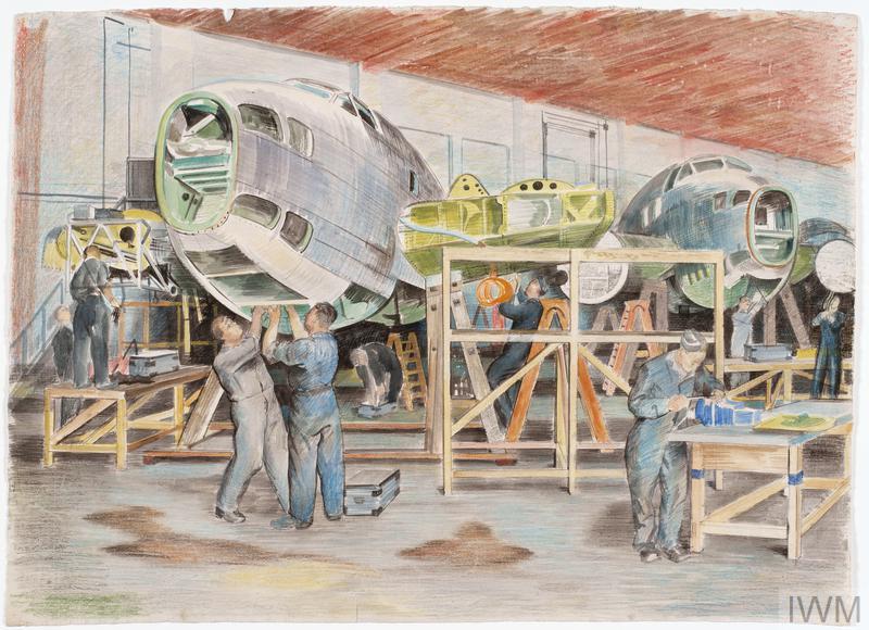 Boston Aircraft under Repair in Maintenance Hangars