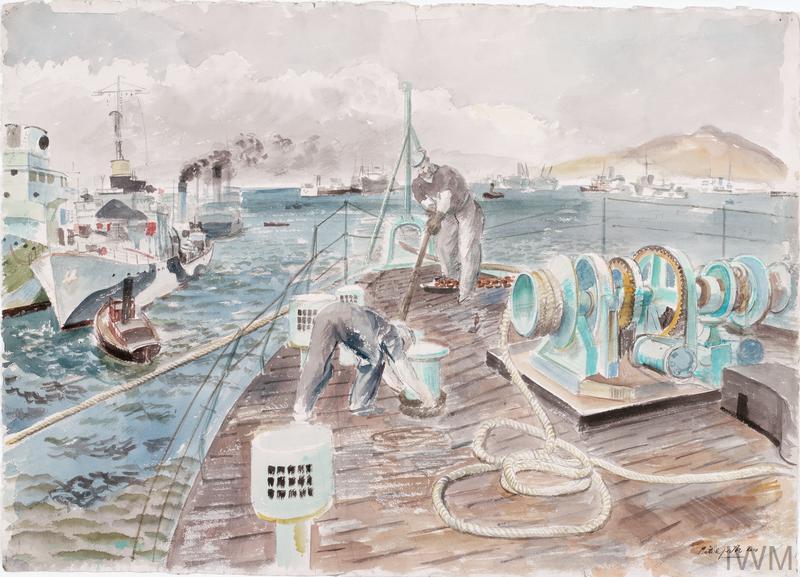 HMS Berkeley Castle at Gibraltar