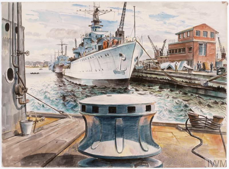 HMS Eskimo and other Destroyers Fitting Out at Durban