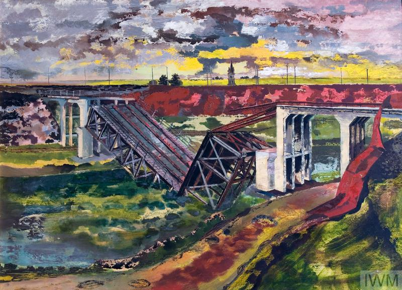 France: The Beginning of the Advance; German bridge-demolition