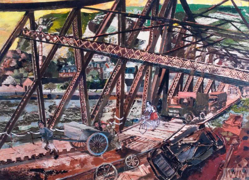 France: The Break Through, 1944; 'Marmalade Bridge', A Railway Bridge Crossing the River Seine at Rouen
