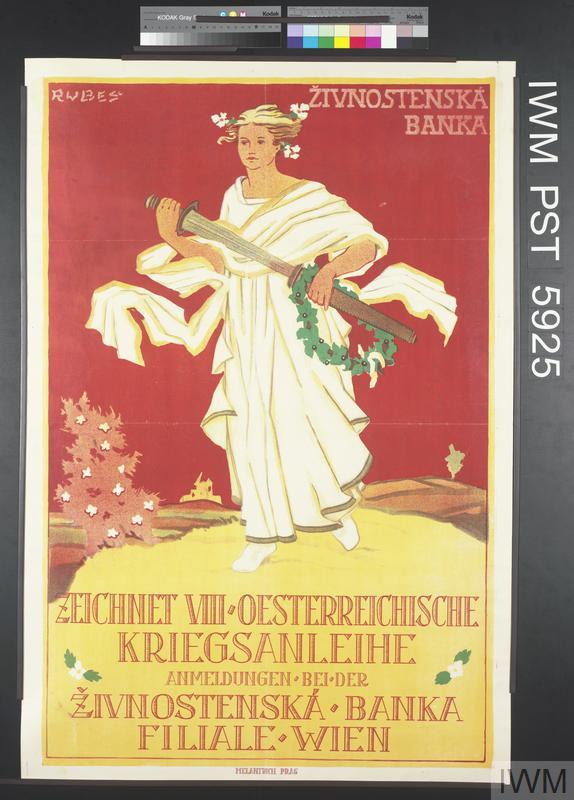 Živnostenská Banka - Zeichnet Achte Oesterreichische Kriegsanleihe [Živnostenská Banka - Subscribe to the Eighth Austrian War Loan]
