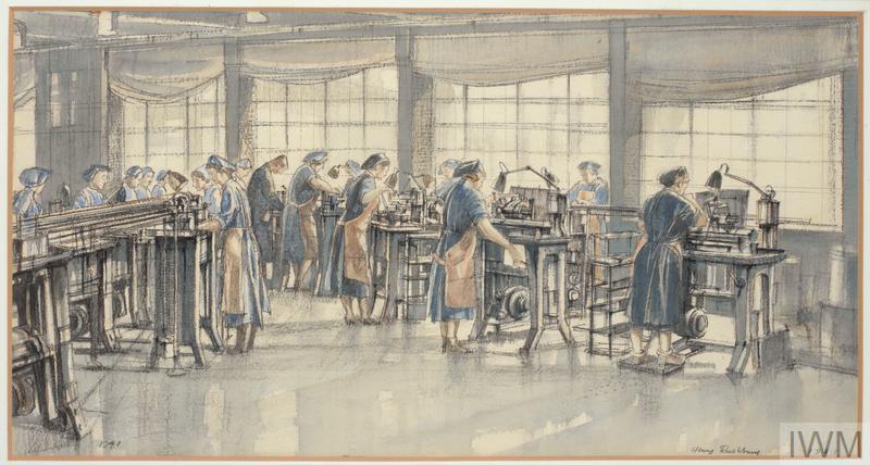 Women at Work in a Munition Factory, Blackburn, 1941