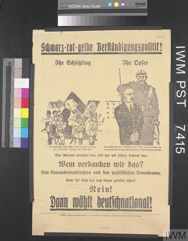 Schwarz-Rot-Gelbe Verständigungspolitik! [Black-Red-Yellow Rapprochement Politics!]