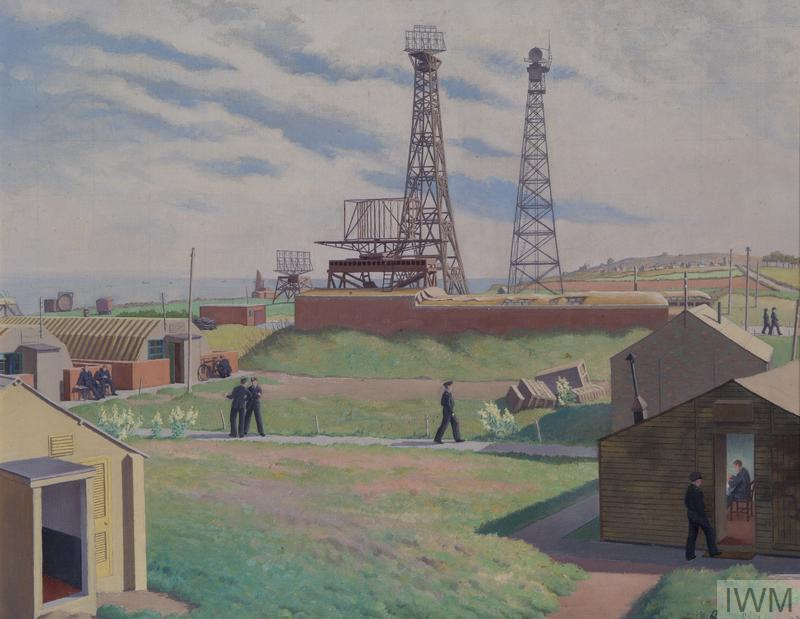 William Thomas Rawlinson's painting of a Chain Home radar station