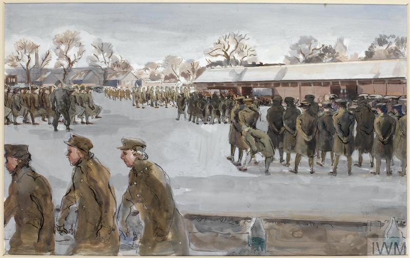 Recruits on the Barrack Square : No 7 ATS Training Centre, Guildford