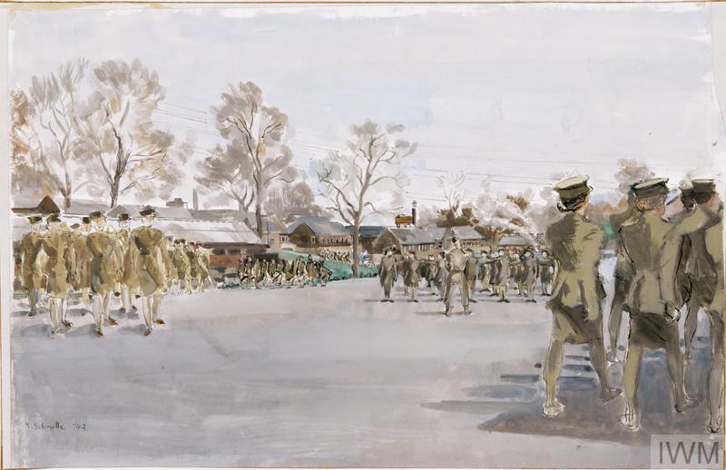 The Parade Ground : No 7 ATS Training Centre, Guildford, 1942