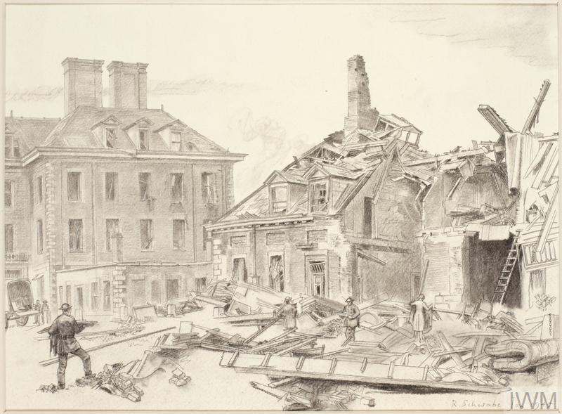 V2 Damage at the Chelsea Pensioners' Hospital, London, SW3