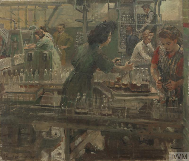 A Penicillin Factory : Girls filling bottles, 1945
