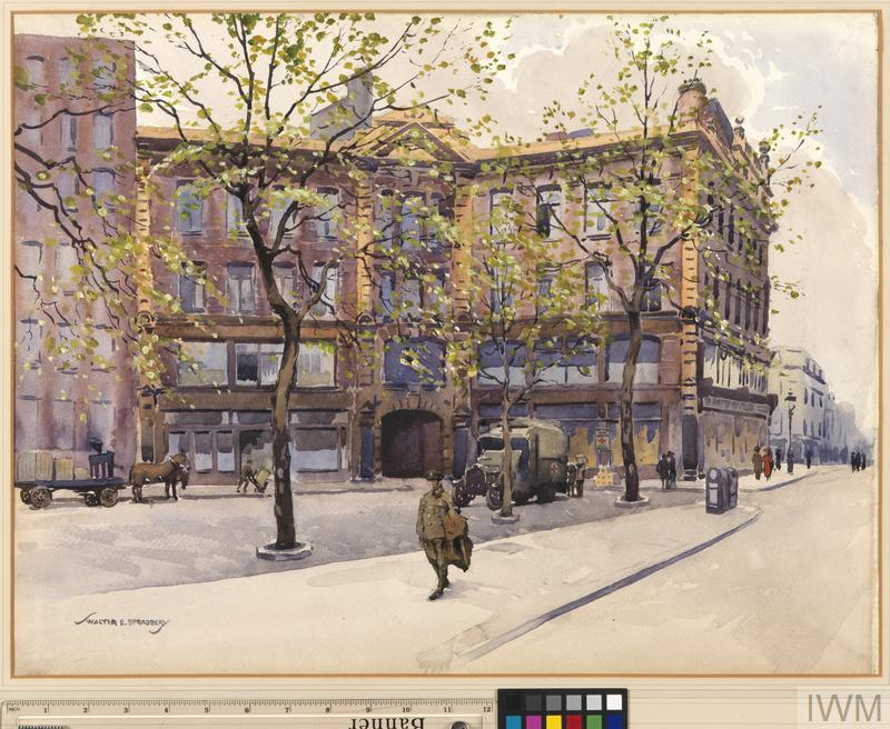 The BRCS and Order of St John Stores, 1920, by Walter Spradbery.