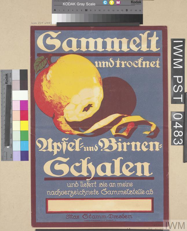 Sammelt und Trocknet Apfel- und Birnen-Schalen [Collect and Dry Apple and Pear Peelings]