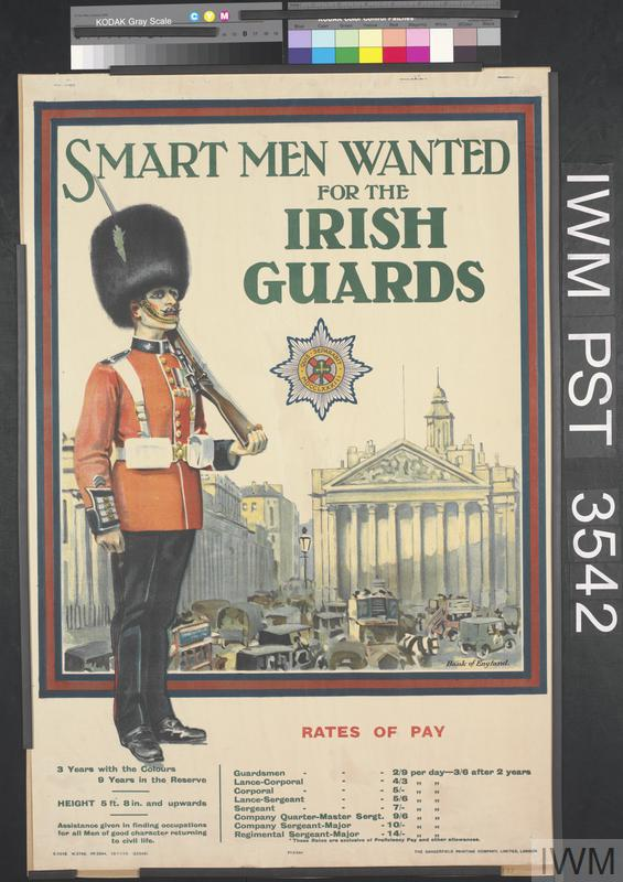 Smart Men Wanted for the Irish Guards