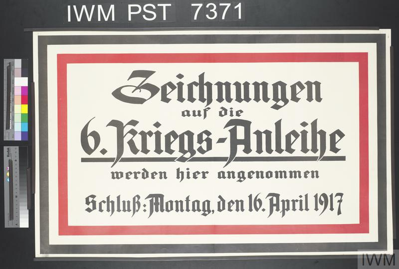 Zeichnungen auf die Sechste Kriegs-Anleihe [Subscriptions to the Sixth War Loan]