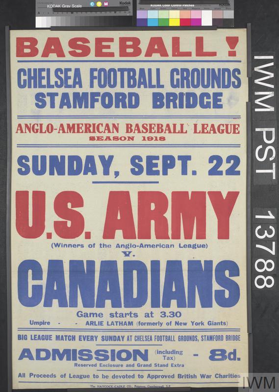 Baseball! U.S. Army versus Canadians