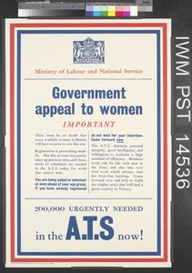 Government Appeal to Women