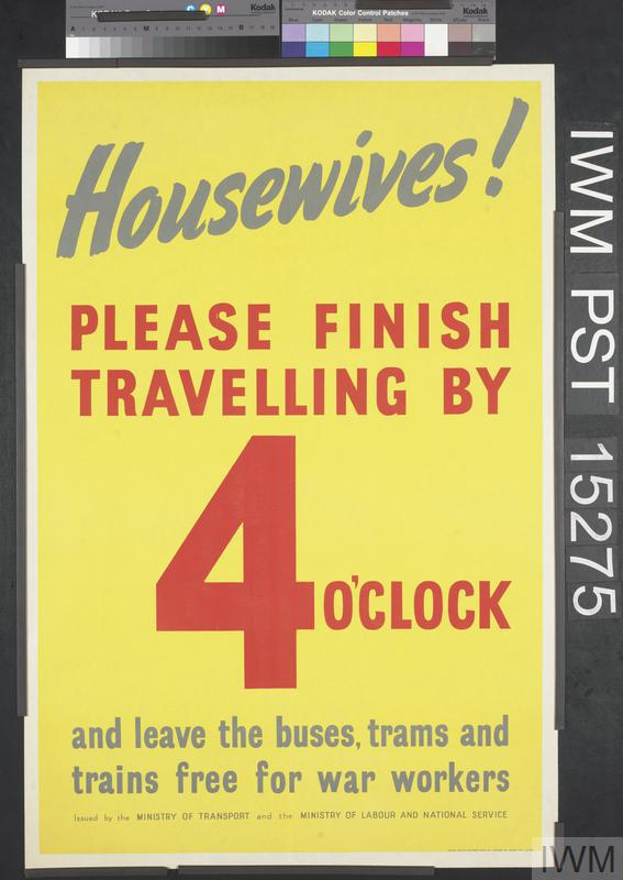 Housewives! Please Finish Travelling by Four O'Clock