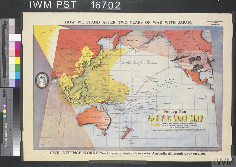 Pacific War Map | Imperial War Museums