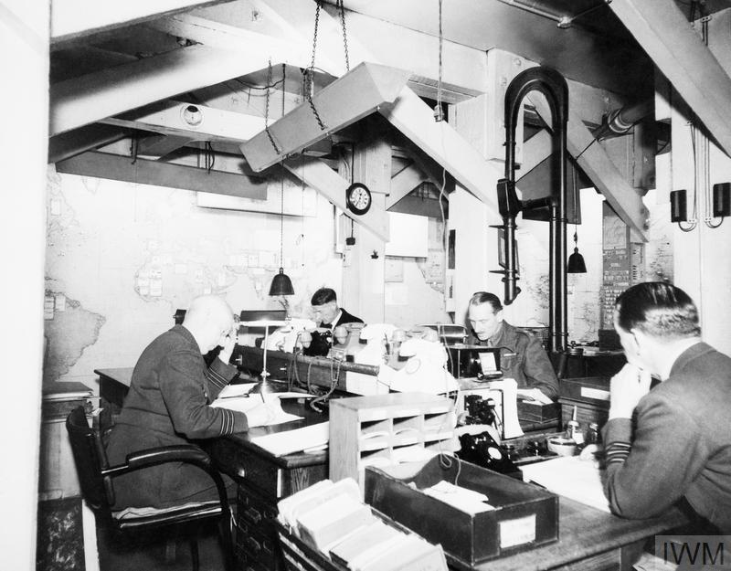THE CABINET WAR ROOMS IN 1945.