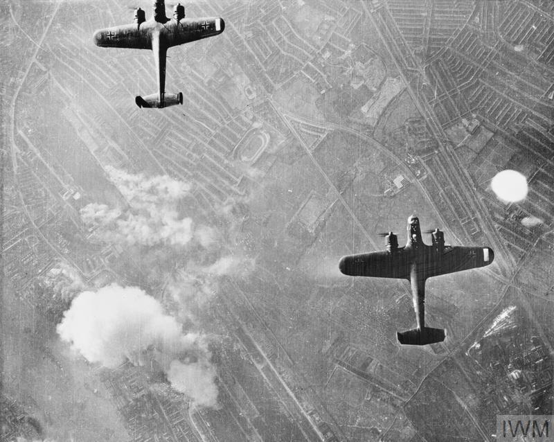 German Dornier Do 17 bombers over east London, 7 September 1940.