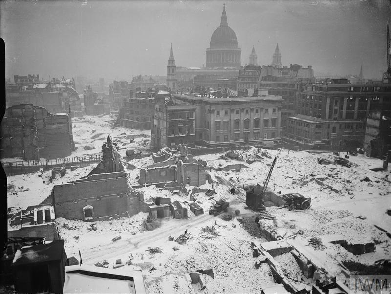 Bomb Damage In London January 1942 Imperial War Museums
