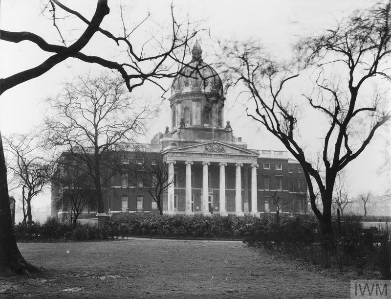 Exterior view of the Imperial War Museum in its new quarters at Lambeth Road, London, 1937.