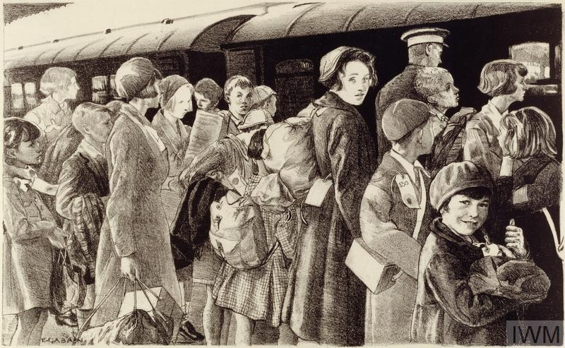 The Evacuation of Children from Southend by Ethel Gabain