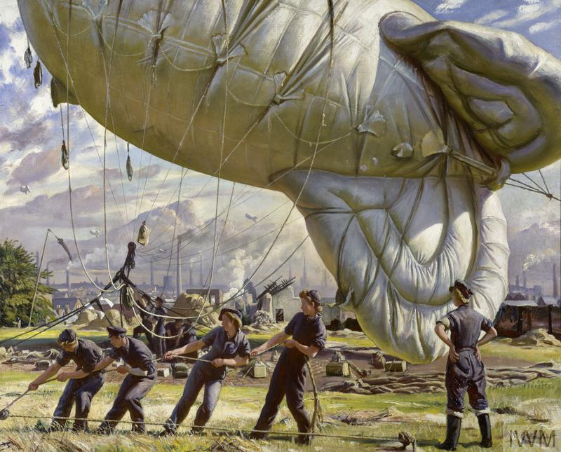 A Balloon Site, painting by Laura Knight